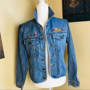 Disney Store Vintage Winnie The Pooh Jean Jacket